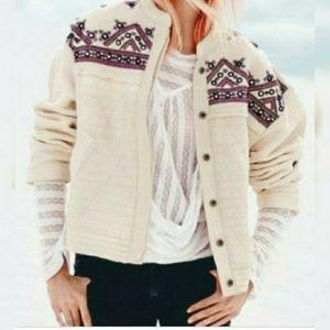 Free People New Romantics Embellished Jacket sz XS